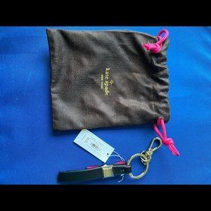 kate spade Accessories - Kate Spade Black/ Pink Key Fob
